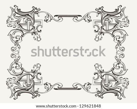 Original Renaissance Ornate Frame - stock vector