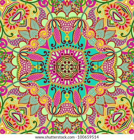original retro paisley seamless pattern - stock vector