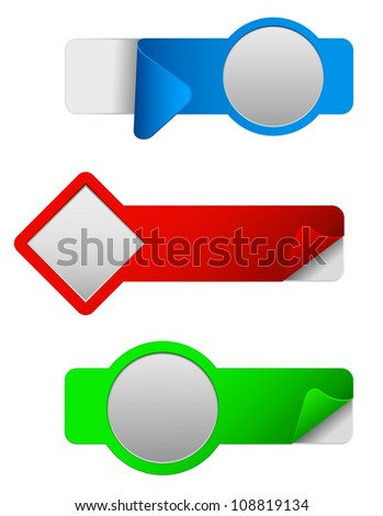 original stickers set - stock vector