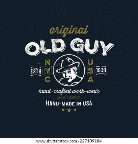 Original t-shirt fashion apparel graphic design, vintage logo for new york clothing  company