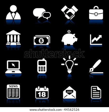 Original vector illustration: business and communication icon set - stock vector