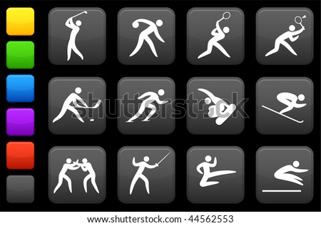 Original vector illustration: competitive and olympic sports icon collection