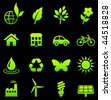 Original vector illustration: environment elements icon set - stock vector