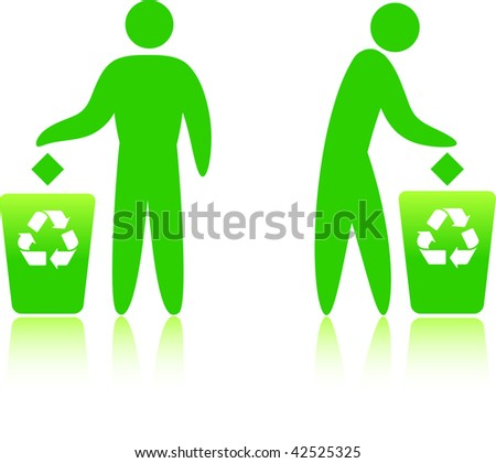 Original Vector Illustration: recycling can  AI8 compatible