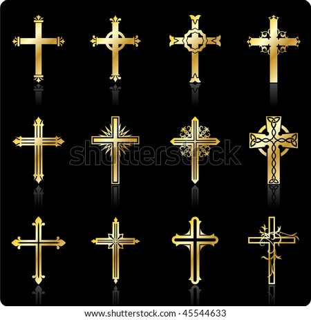 Original Vector Illustration: religious cross design collection