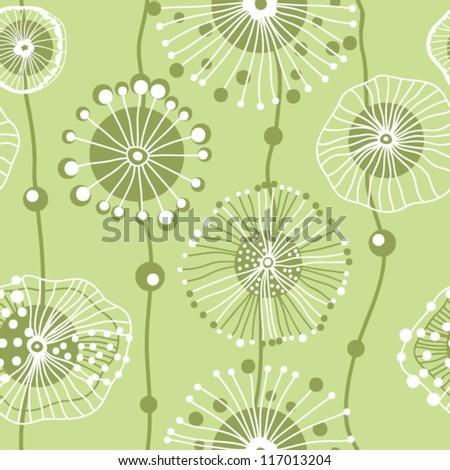 Original vector seamless floral pattern - stock vector