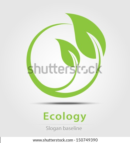 Originally created ecology business icon - stock vector