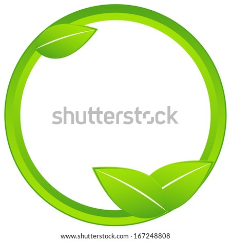 Originally created ecology business icon on a white background - stock vector