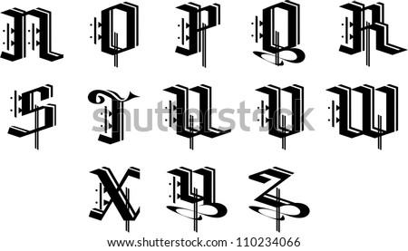 ornament alphabet 1 stock vector 110234066 shutterstock