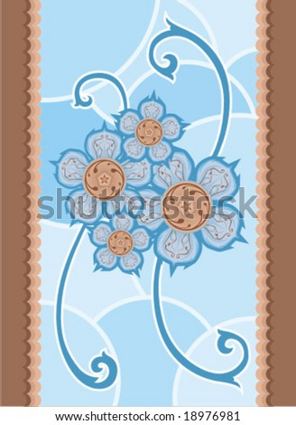 Ornament Blue - stock vector
