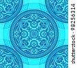 Ornament circle seamless pattern - stock vector