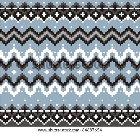 Ornament for knitting ( jacquard) - stock vector