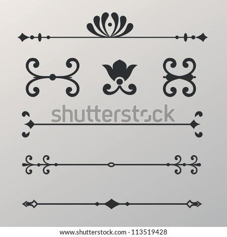 ornament menu - stock vector