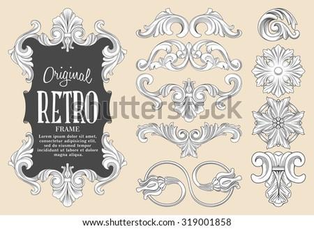 ornament set - stock vector