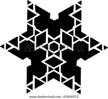 ornament vector star - stock vector