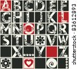 ornamental ABC, vector design elements - stock vector