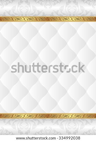 ornamental background with white pattern - stock vector