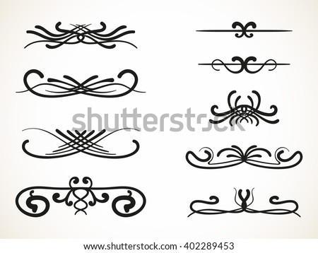 Scroll Lines Stock Images Royalty Free Images Vectors