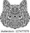 Ornamental cat - stock vector