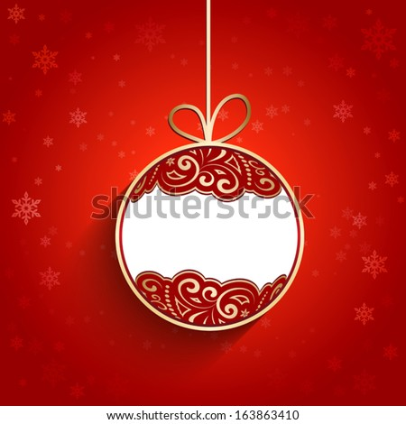 Ornamental Christmas ball, vector background, eps10 - stock vector