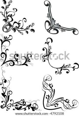 Decorative Corners Stock Vector 93431824 - Shutterstock