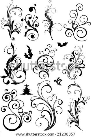 ornamental design elements - vector - stock vector