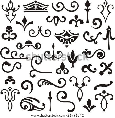 Ornamental design elements, vector series. - stock vector