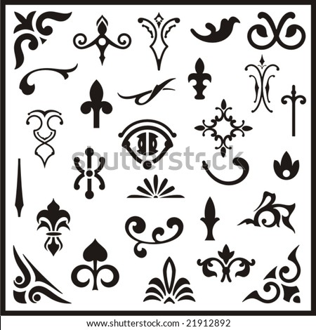 Western Design Elements Ornamental Design Elements