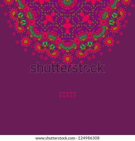 Ornamental ethnicity pattern - stock vector