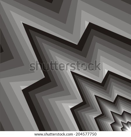 Ornamental fabric with zigzags. - stock vector
