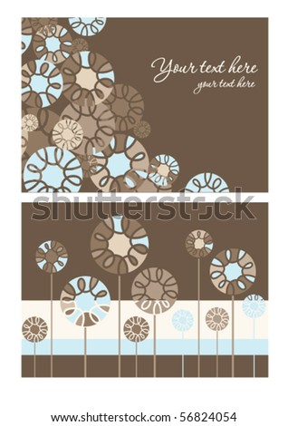 Ornamental Floral Card