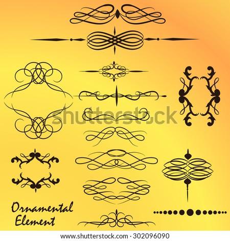 Ornamental floral design element - stock vector