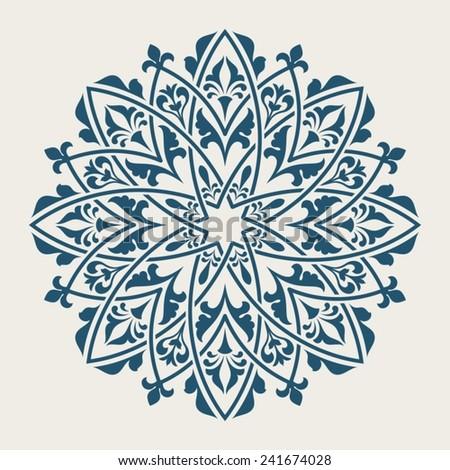 Ornamental floral element for design in vintage stile. - stock vector