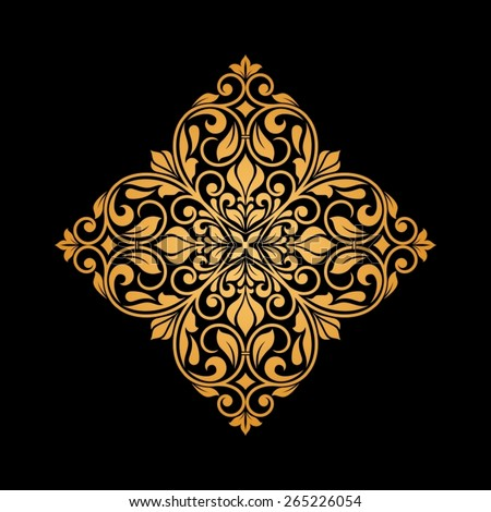 Ornamental floral element for design in vintage stile. - stock vector
