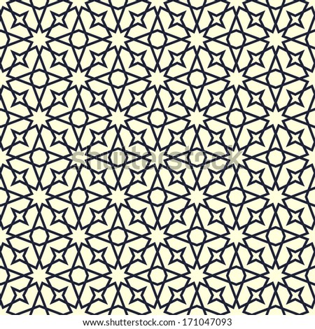 Ornamental pattern. Arabic seamless background.