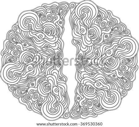 ornamental pattern in celtic style from  doodle elements