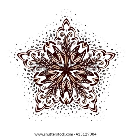 Ornamental Round Floral Pattern. Vintage Decorative Elements - stock vector