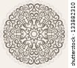 Ornamental round lace - stock photo