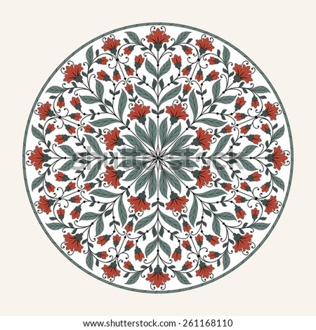 Ornamental round lace pattern. - stock vector