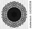 Ornamental round lace pattern on grunge background - stock vector