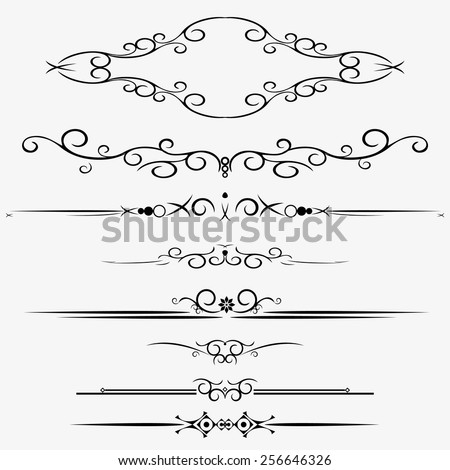 Ornamental Rule Lines Different Design Stock Stock Vector ...