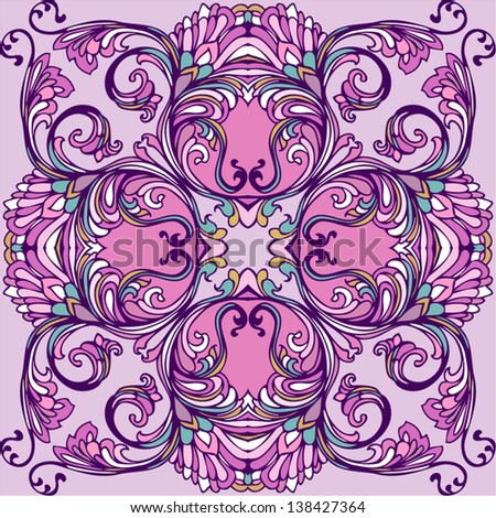 ornamental seamless background - stock vector