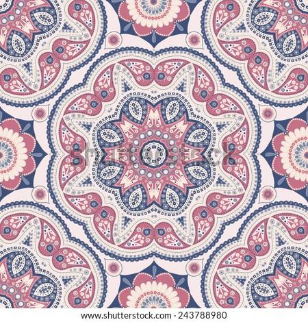 Ornamental seamless pattern - stock vector