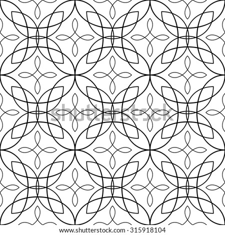 Ornamental seamless pattern in black and white  - stock vector