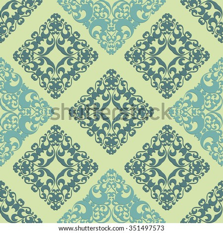 Ornamental seamless pattern in vintage style. Vector background.