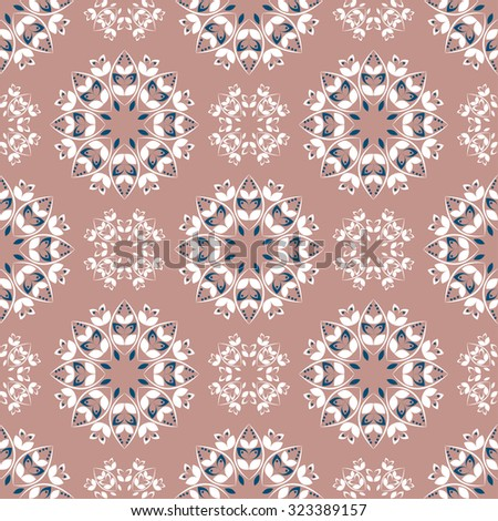 Ornamental seamless pattern. Vector eps8