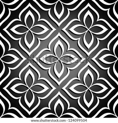 Ornamental seamless pattern. Vector floral background. - stock vector