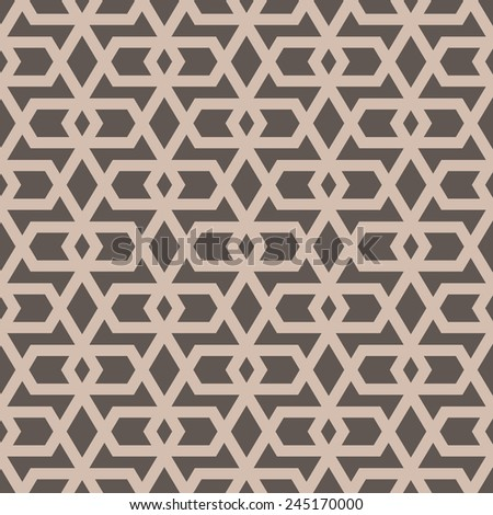 Ornamental seamless pattern. Vector geometric background.