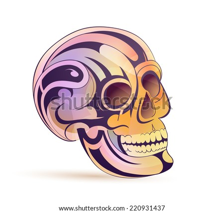 Ornamental skull. EPS-10
