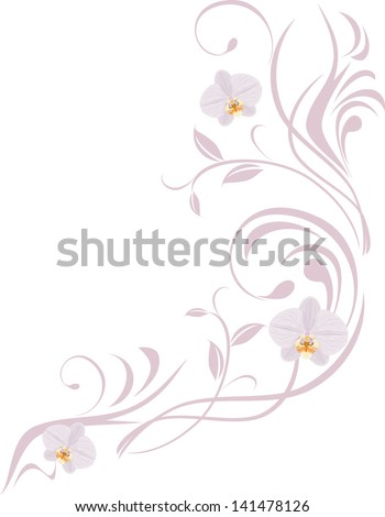 stock-vector-ornamental-sprig-with-orchi